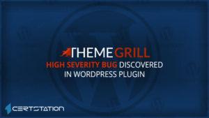 High Severity Bug Discovered in WordPress Plugin