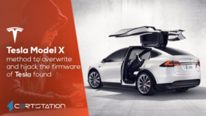 Method to overwrite and hijack the firmware of Tesla found